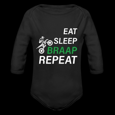 Motocross Repeat Heartbeat Gift Supermoto Love - Long Sleeve Baby Bodysuit