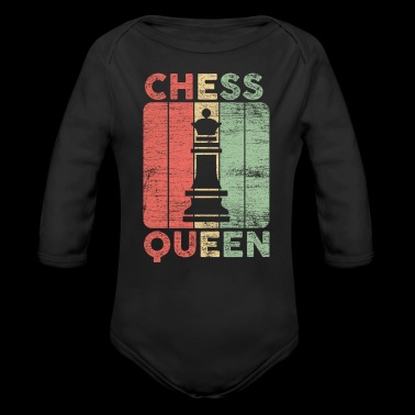 queen chess gift love playing game board field - Long Sleeve Baby Bodysuit