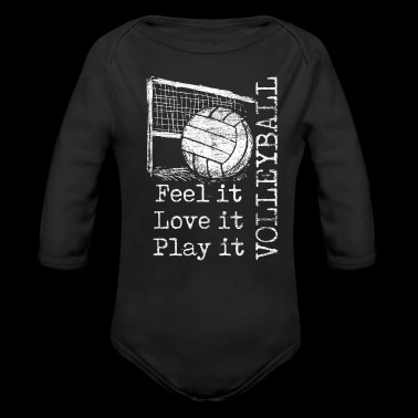 feel it love it play it volleyball - Long Sleeve Baby Bodysuit