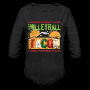 Volleyball and Tacos - Long Sleeve Baby Bodysuit