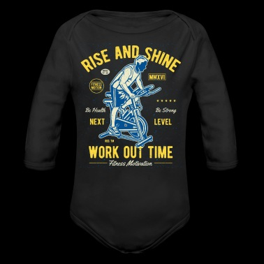 Work Out Time Exclusive Tshirt Limited Edition - Long Sleeve Baby Bodysuit