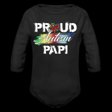 Proud Autism Awareness Papi funny shirts gifts - Long Sleeve Baby Bodysuit