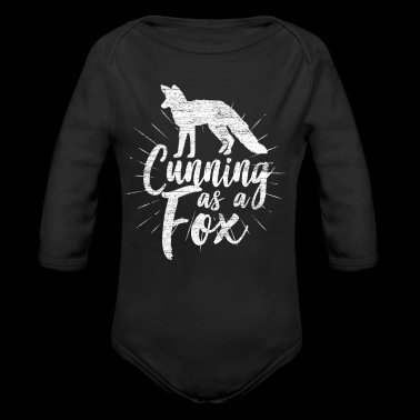 Cunning as a fox - Long Sleeve Baby Bodysuit