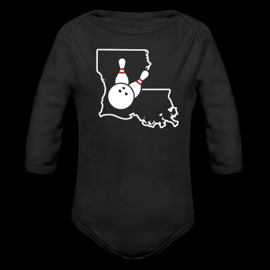 Bowling Pins Louisiana Funny Bowling Shirts - Long Sleeve Baby Bodysuit