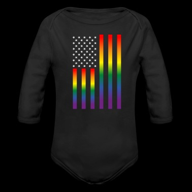 LGBT Gay Lesbian Pride Rights Support Tolerance - Long Sleeve Baby Bodysuit