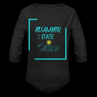 First day of summer is a state of mind - Long Sleeve Baby Bodysuit
