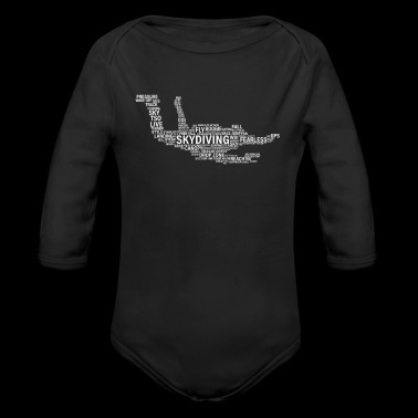 Parachutist T-Shirt Present for Skydiver Words - Long Sleeve Baby Bodysuit