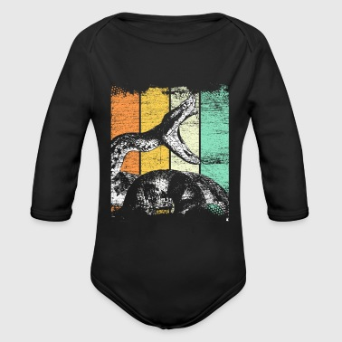 Snake retro - Organic Long Sleeve Baby Bodysuit