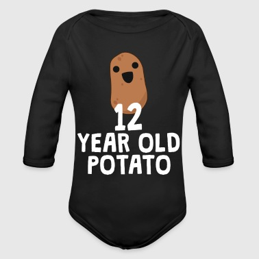 12 Year Old Potato Funny Food Joke Birthday Gift - Organic Long Sleeve Baby Bodysuit