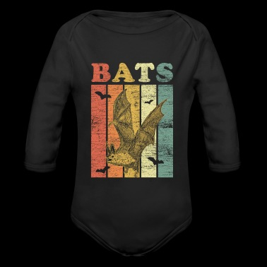 Bats gift dark fly night animal rights - Organic Long Sleeve Baby Bodysuit