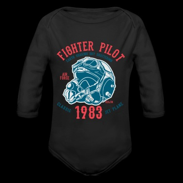 Fighter Pilot2 - Organic Long Sleeve Baby Bodysuit