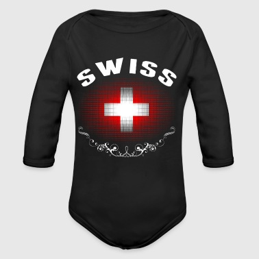Swiss Flag Tshirt - Long Sleeve Baby Bodysuit