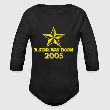Star Was born in 2005, year of birth, gift - Long Sleeve Baby Bodysuit