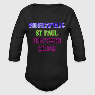 Slogans Minneapolis St Paul The Twin Cities - Long Sleeve Baby Bodysuit