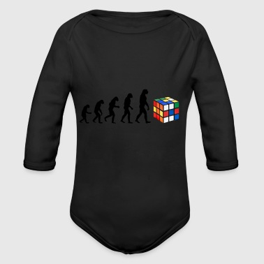Evolution Magic Cube world record gift idea - Long Sleeve Baby Bodysuit