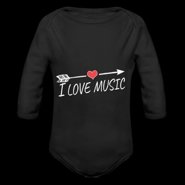 I love music - Long Sleeve Baby Bodysuit