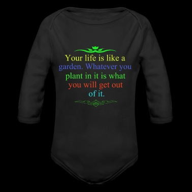 Garden - Long Sleeve Baby Bodysuit