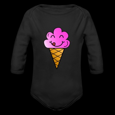 Ice cream children present summer hungry funny - Long Sleeve Baby Bodysuit