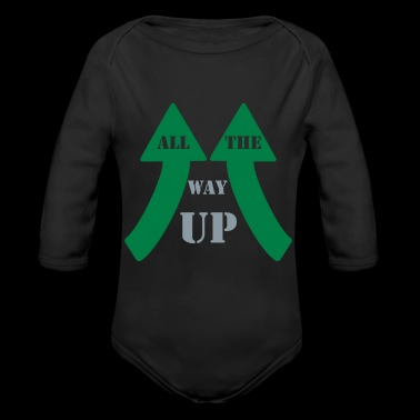 All the way up - Long Sleeve Baby Bodysuit