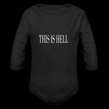 THIS IS HELL white - Long Sleeve Baby Bodysuit