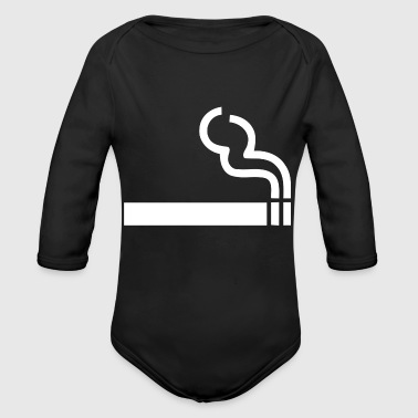 Smoking Area - Long Sleeve Baby Bodysuit