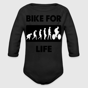 bike for life - Long Sleeve Baby Bodysuit