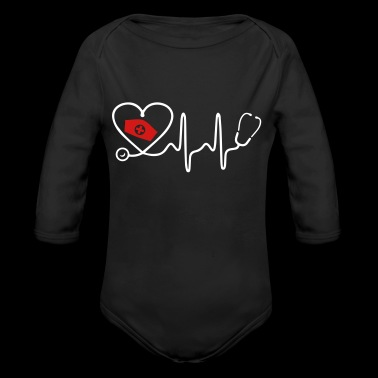 Heart Beat Nurse - Long Sleeve Baby Bodysuit