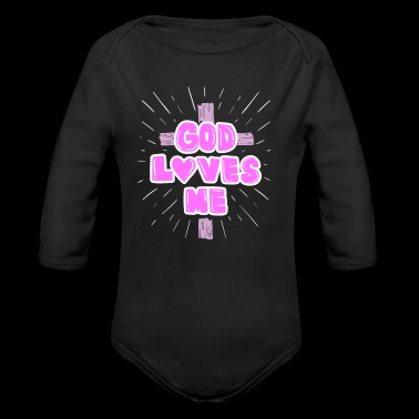 God loves Me gift - Long Sleeve Baby Bodysuit