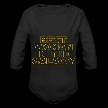 Best Woman in the Galaxy - Long Sleeve Baby Bodysuit
