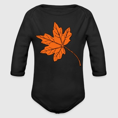 Big maple leaf - Long Sleeve Baby Bodysuit