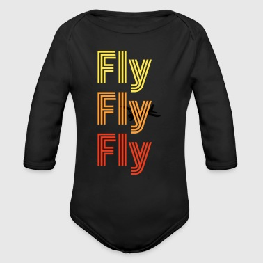 Fly... - Long Sleeve Baby Bodysuit