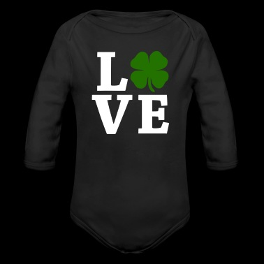 Four Leaf Clover Love - Long Sleeve Baby Bodysuit