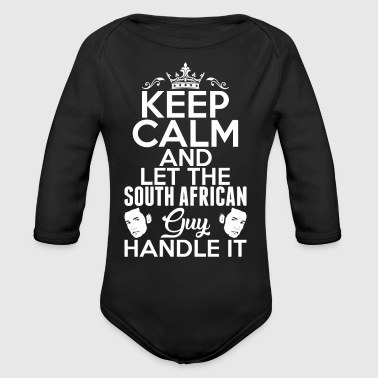 Keep Calm South African Guy Handle It - Long Sleeve Baby Bodysuit