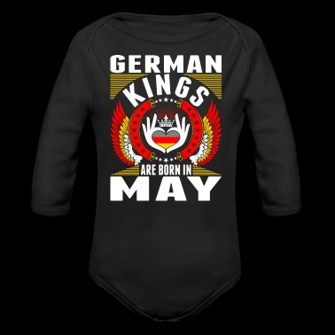 German Kings Are Born In May - Long Sleeve Baby Bodysuit