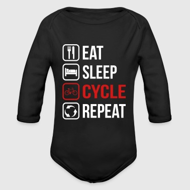 Eat Sleep Cycle Repeat - Organic Long Sleeve Baby Bodysuit