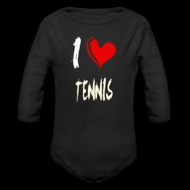 I love TENNIS - Long Sleeve Baby Bodysuit