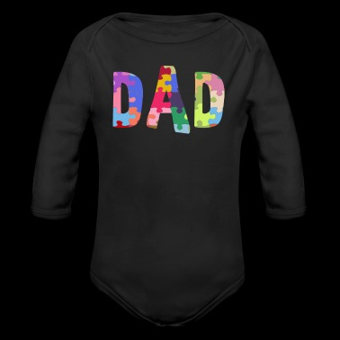 Autism Awareness Shirt Autism Support Dad - Long Sleeve Baby Bodysuit