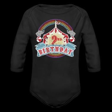 Circus Carnival Birthday 2nd Birthday Party Kids Shirt - Long Sleeve Baby Bodysuit