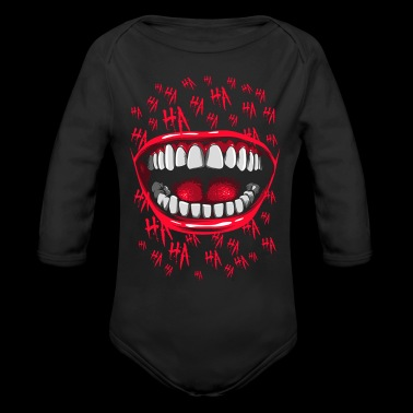 crazy laughter - Long Sleeve Baby Bodysuit