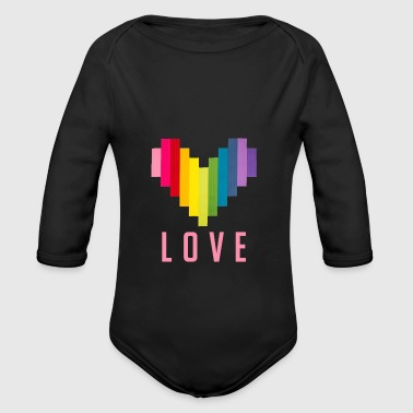 love pink graphic - Long Sleeve Baby Bodysuit