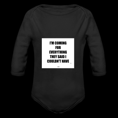 HUSTLE 8 - Long Sleeve Baby Bodysuit