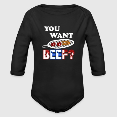 Beef Grill - Organic Long Sleeve Baby Bodysuit