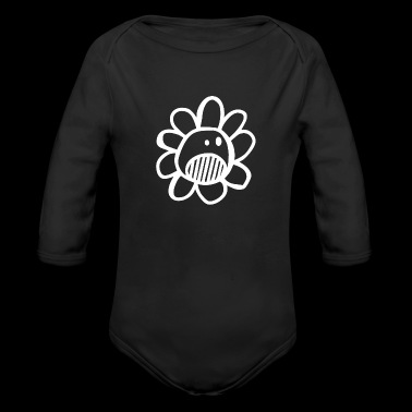 Comic Monster Creature Figure in funny drawing 22 - Long Sleeve Baby Bodysuit