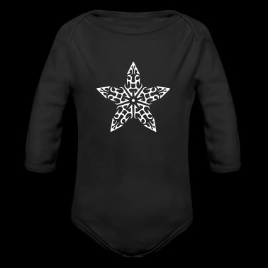 Decorative Design Star Figure Art 14 - Long Sleeve Baby Bodysuit