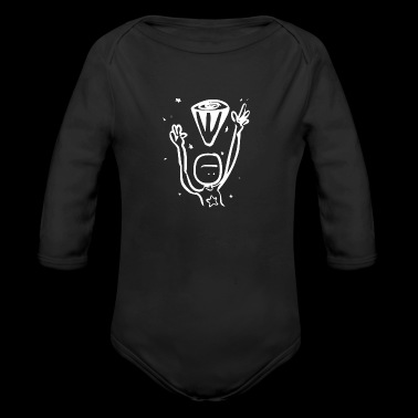 Comic Monster Creature Figure in funny drawing 61 - Organic Long Sleeve Baby Bodysuit