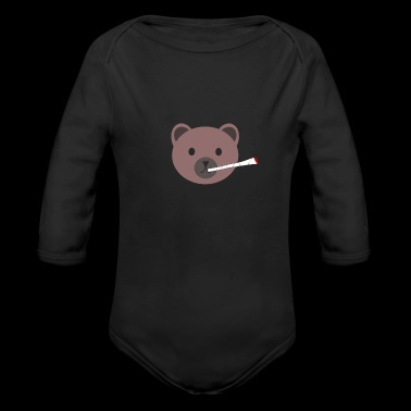 Cute Joint Brown Bear Souvenir Gifts - Organic Long Sleeve Baby Bodysuit
