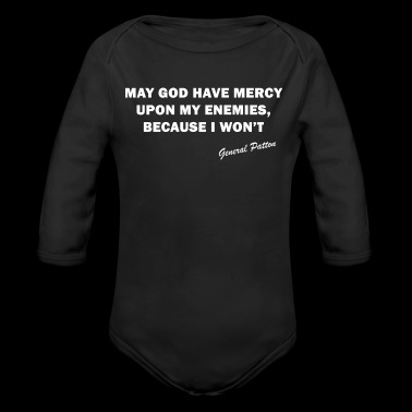May God Have Mercy (White) - Long Sleeve Baby Bodysuit