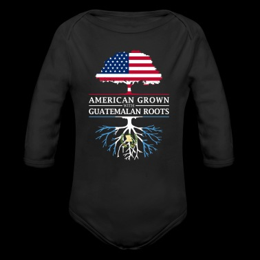 American Grown with Guatemalan Roots Guatemala Design - Organic Long Sleeve Baby Bodysuit