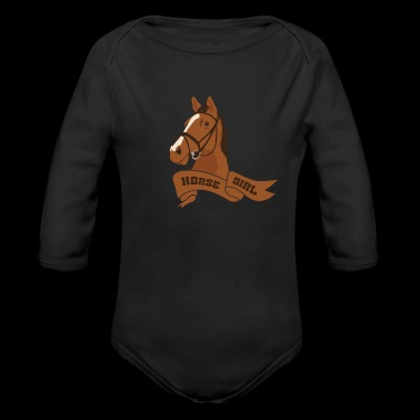 Horse Girl - Horseback Riding Equestrian Cowgirl - Long Sleeve Baby Bodysuit