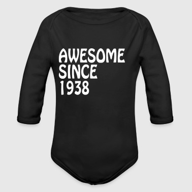 Awesome Since 1938 Tee Birthday Gift Shirt - Long Sleeve Baby Bodysuit